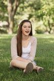 女孩笑青少年 库存图片