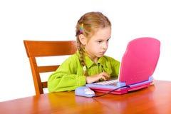 女孩笔记本年轻人 库存照片