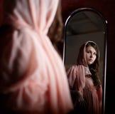 女孩粉红色反射性感 库存照片