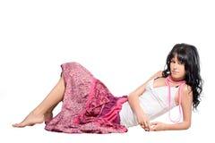 女孩粉红色裙子 图库摄影