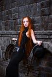 女孩红头发人 库存照片