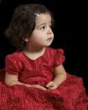 女孩红色 库存照片