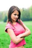 女孩纵向少年 免版税库存照片