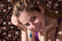 女孩纵向年轻人 免版税图库摄影