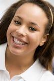 女孩纵向微笑少年 免版税库存照片