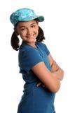 女孩纵向微笑的年轻人 免版税库存照片