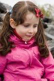 女孩纵向微笑 免版税图库摄影