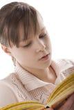 女孩纵向读取 库存照片