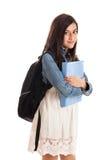 女孩纵向青春期前学校 免版税库存图片