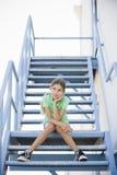 女孩纵向非离子活性剂 免版税库存照片