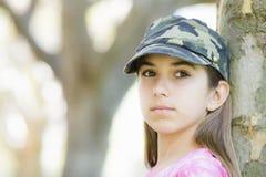 女孩纵向非离子活性剂 免版税库存图片