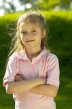 女孩纵向年轻人 免版税库存图片
