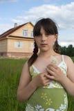 女孩纵向 免版税库存照片