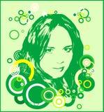 女孩绿色 库存图片