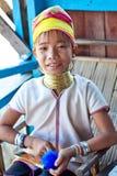 女孩缅甸padaung部落 库存图片