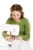 女孩缝合青少年 图库摄影