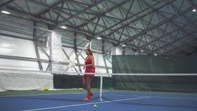 女孩网球员排斥屑子 影视素材