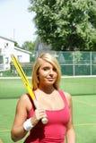 女孩网球 库存图片