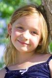 女孩老六微笑的年 库存图片