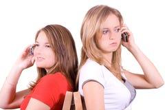 女孩联系 免版税库存图片
