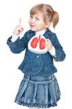 女孩肺 免版税库存照片