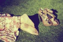女孩脚 库存图片