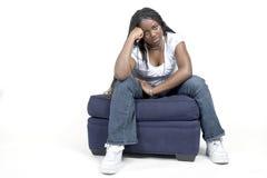 女孩脾气坏青少年 免版税库存图片