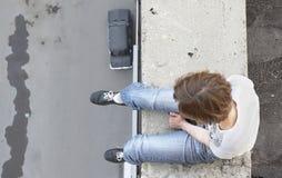 女孩自杀 库存照片