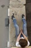 女孩自杀 免版税库存照片
