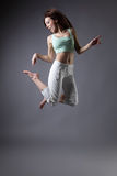女孩舞蹈 图库摄影