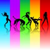 女孩舞蹈 免版税库存图片