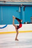 女孩花样滑冰运动员,奥伦堡,俄罗斯 免版税库存图片