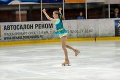 女孩花样滑冰运动员, 免版税图库摄影