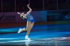 女孩花样滑冰运动员 库存照片