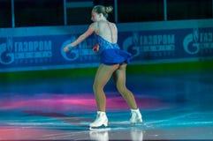 女孩花样滑冰运动员 免版税图库摄影