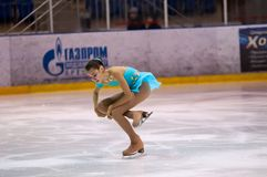 女孩花样滑冰运动员 图库摄影
