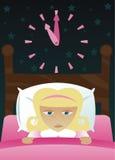 女孩获得了失眠少许s 免版税库存照片