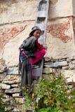 女孩藏语 图库摄影
