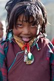 女孩藏语 库存照片