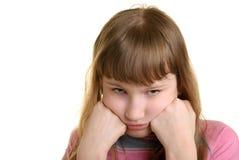 女孩被触犯 免版税库存图片