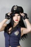 女孩警察 库存照片