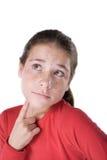 女孩认为 免版税库存图片