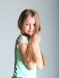 女孩设计姿势 免版税库存图片