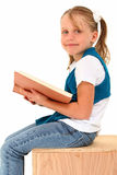 女孩读取 库存照片