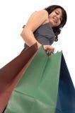 女孩购物年轻人 免版税库存图片