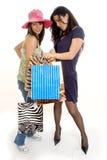女孩购物的二 免版税图库摄影