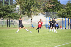 女孩足球比赛 库存图片