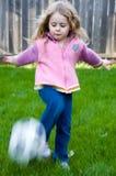 女孩足球 免版税库存图片