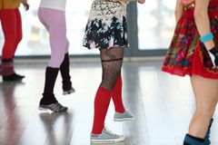 女孩跳舞 免版税图库摄影