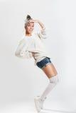 女孩跳舞breakdance 库存图片